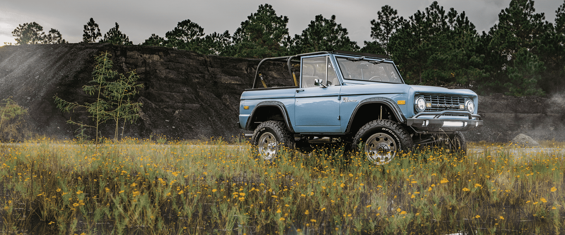 Off Roading in a Mountain Edition Classic Bronco by Early Ford Broncos