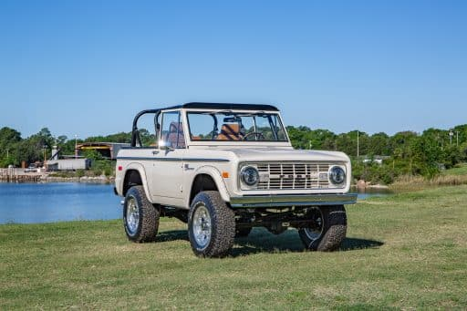 1974 Early Ford Bronco headlights